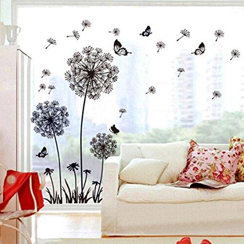 salones/… Motivos naturales Vinilo de dise/ño Vinilo decorativo Pegatina de pared Adhesiva diente de Le/ón para dormitorios