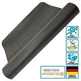 aerobis Yoga Matte rutschfest, dünn, schadstofffrei I Made in Germany I Gymnastikmatte nach Oeko-TEX 100 I Fitnessmatte umweltfreundlich + hautfreundlich I Sportmatte phtalatfrei I 65 x 185 cm