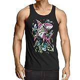 N4340V Camiseta sin Mangas El Tiburon (X-Large Negro
