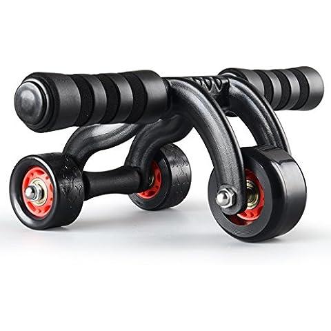 NuoYo Rodillo del AB con 3 Ruedas Ejercicio Abdominal Equipo para Fitness, Portable Abdominal Ejercicio Equipo y Core para Fitness Muscular Ejercicios.