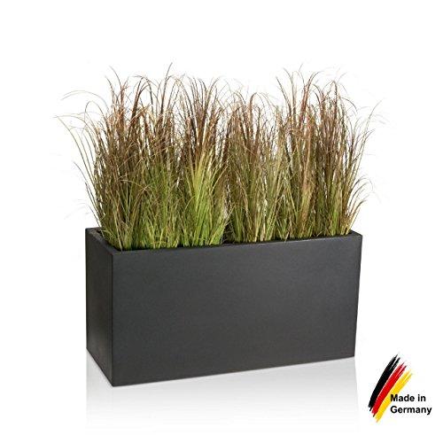 Newsbenessere.com 51HbXrtsn5L Fioriera VISIO 50 in resina, vaso da fiori - 100x40x50 cm - colore: grigio antracite