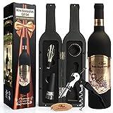 Yobansa a forma di bottiglia di vino Opener set, cavatappi set , set di accessori 4pcs