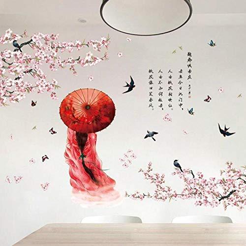 Aufkleber Schönheit Wandaufkleber Antiken Chinesischen Stil Kostüme Damen Figur Tapete Wohnzimmer Hintergrund Tv Wandaufkleber Klassische Pfirsich - Tv Figur Kostüm Einfach