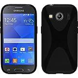 c2ce2b2299d PhoneNatic Funda de silicona para Samsung Galaxy Ace 4 - X-Style negro -  Cover Cubierta + protector de pantalla