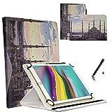 JP-WELT Tablethülle für Blaupunkt Endeavour 101G Schutzhüllen Tablet Case Tasche Hülle - 10.1 (10.5) Zoll Istanbul