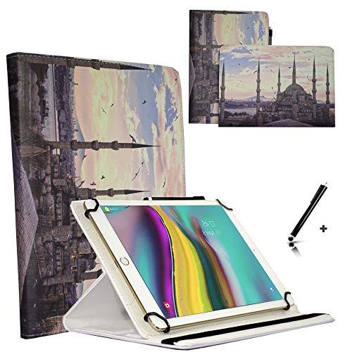 JP-WELT Tablethülle für Denver TAQ-10182 Schutzhüllen Tablet Case Tasche Hülle - 10.1 (10.5) Zoll City Blaue Moschee