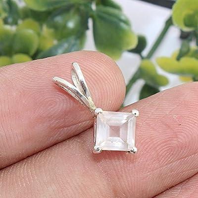 Rose Quartz Gemstone 925 Sterling Silver Pendant