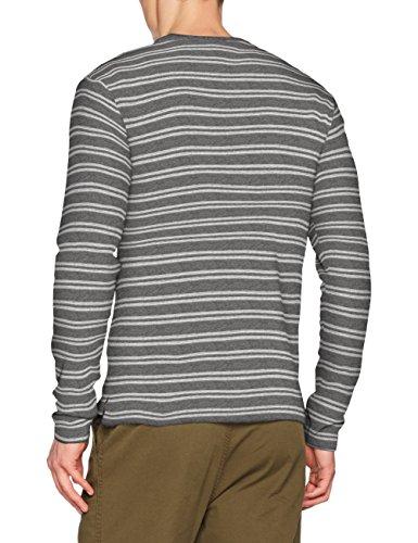 ONLY & SONS Herren Langarmshirt Onstam Striped Sweat Mehrfarbig (Medium Grey Melange)