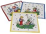 12 Stück Kinder Stoff Taschentücher Kindertaschentücher Set Größe 26x26 cm