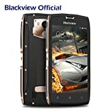 Outdoor Handy, Blackview BV7000 IP68 Outdoor Smartphone 2GB RAM + 16GB ROM Android 7.0, Rugged Handy 5.0 Zoll Wasserdichte Stoßfest Staubdicht mit 3500 mAh Battrie, OTG,NFC,Fingerabdruck-Gold