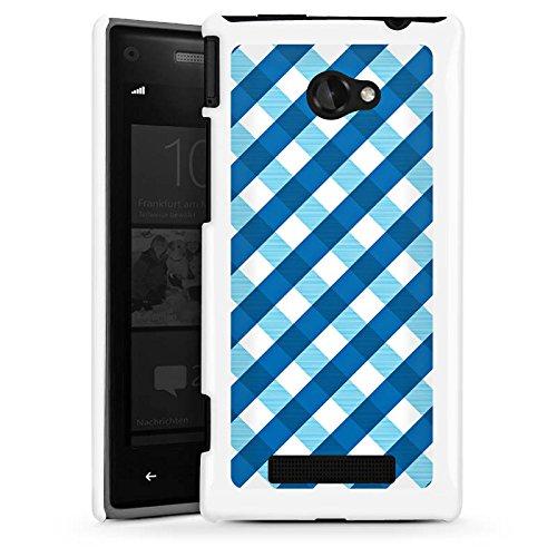 DeinDesign HTC Windows Phone 8X Hülle Schutz Hard Case Cover Karo Blau Muster