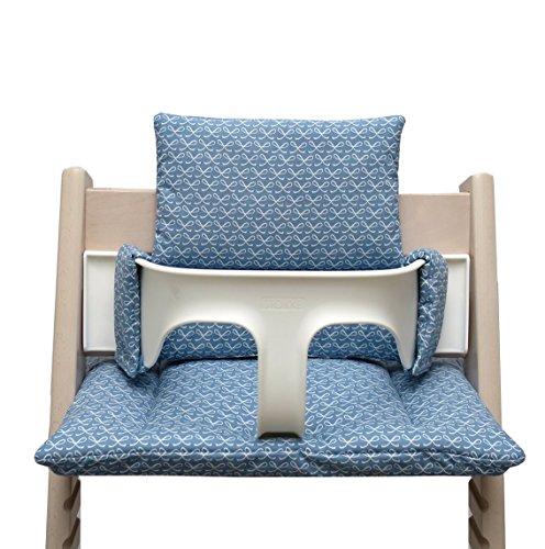 Blausberg Baby - Sitzkissen für Tripp Trapp Hochstuhl - Happy loop blau