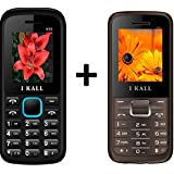 I KALL (K55 Blue+K88 Brown) Set Of Two Basic Feature Mobile Phone With Multiple Features Like Bluetooth, FM Radio, GPRS, Camera, 1000 Mah Battery And 1 YEAR Manufacturer Warranty