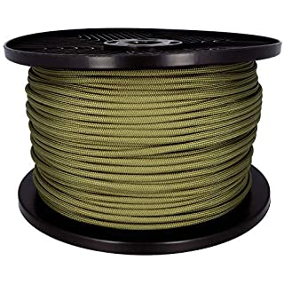 ASR Outdoor Survival OD Green Paracord Rope Breaking Point 550 Pounds - 500 ft