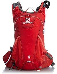 Salomon Bag Rucksack Agile Set - Mochila, color multicolor (bright red/white), talla 45.0 x 22.5 x 13.5 cm, 12 l