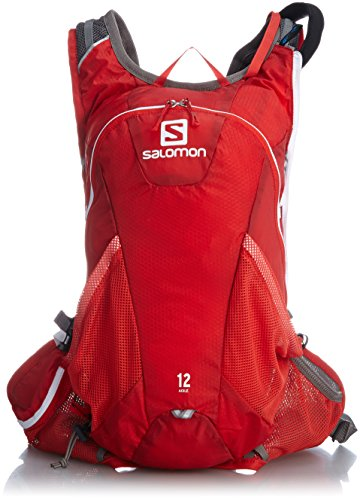 Salomon Bag Rucksack Agile Set - Mochila, Color (Bright Red/White), Talla 45.0 x 22.5 x 13.5 cm, 12 l