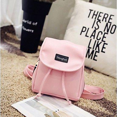 SUNNY KEY-Borsa a tracolla @ Donna Borsa a tracolla PU (Poliuretano) Per tutte le stagioni Casual Baguette Chiusura a olivetta Blu Bianco Nero Rosa , blushing pink white