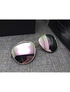 Gafas de Conducción Al Aire Libre Gafas de Sol Brillantes Y Coloridos Grandes V Gafas de Sol Mujer 's Cara Hombres...