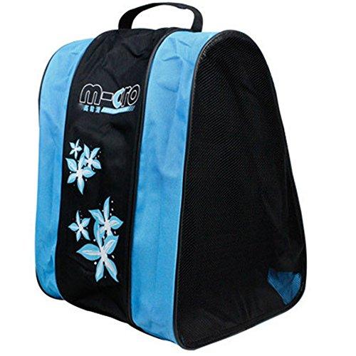 Skate-Tasche - Meiwo Roller Ice / Roller dreistufiges Paket dreieckige Schulter Skating Bag Oxford Lightweight Carry Sporttasche für Kinder Jungen Mädchen,blau