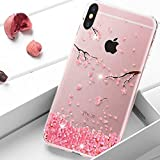 HMTECH iPhone XR Coque Paillette Diamant strass Bling Cristal Souple Clear Flex...