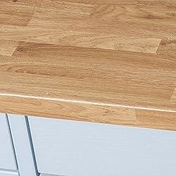 Colmar Oak Wood Effect Laminate Kitchen Worktops - Semi Gloss (Upstands 3000 x 95 x 12mm)