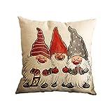 VORCOOL Weihnachten Weihnachtsmann Kissenbezüge Platz Kissenbezüge Throw Pillow Covers Home Sofa Auto Dekoration