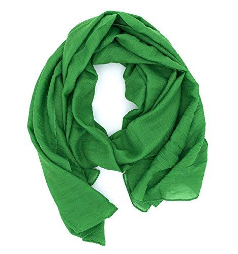 WILD CAT Damen Schal Halstuch Tuch aus Chiffon für Frühling Sommer Ganzjährig (Grün)