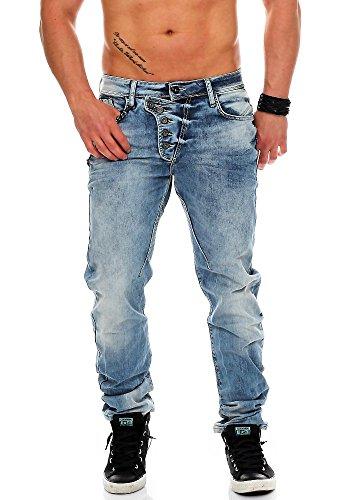 Cipo & Baxx Homme Jeans Straight Fit Lipsca bleu clair