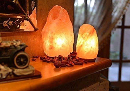 Keraiz AmazonUkkitchen Lampes de sel de Roche 100% Naturelles et thérapeutiques Iodisant Naturel, Plastique, Rose, 23 x 20 x 20 cm