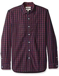Marque Amazon - Goodthreads Standard-fit Poplin Plaid Shirt - button-down-shirts - Homme