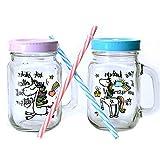 Einhorn mit Spruch Glas mit Strohhalm - Trinkglas