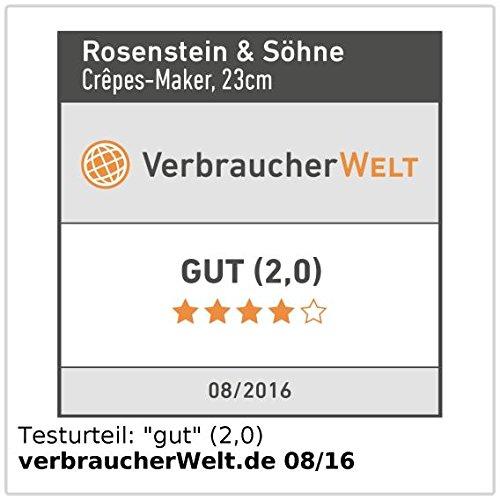 Rosenstein & Söhne NC3627-944 Crepes Maker - 5