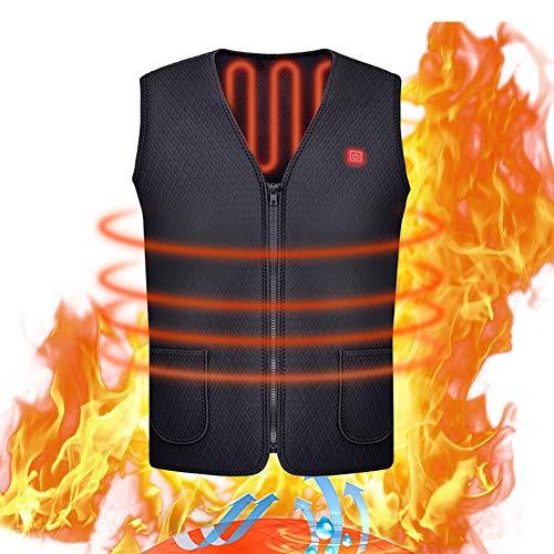 CampHiking Ricarica USB Elettrico riscaldato Gilet Unisex Caldo Abbigliamento Face abbellire e di Struttura per Outdoor Equitazione Sci Pes