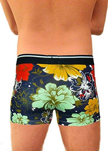 si moda 4er Herren Boxershorts Unterhose Retroshorts Pants Hipster Baumwolle Hawaii, Größen:XL