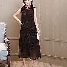 Vestido de mujer Vestido de las mujeres de estilo chino Vintage Cheongsam Qipao Vestido de cóctel de diseño de flores vestido de fiesta Cóctel Fiesta de uso ...