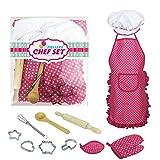 Fantiff - Juego de disfraz de cocina para niños, juego de juguete para cocinar