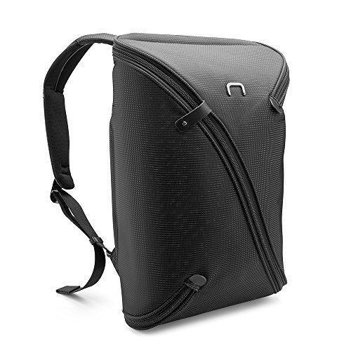 NIID-UNO I Wasserabweisender Schlanker Laptop-Rucksack mit USB-Ladeanschluss für Rucksäcke bis 15,6 Zoll, Business-Daypack für Working College Travel (schwarz, Sport & Standard)