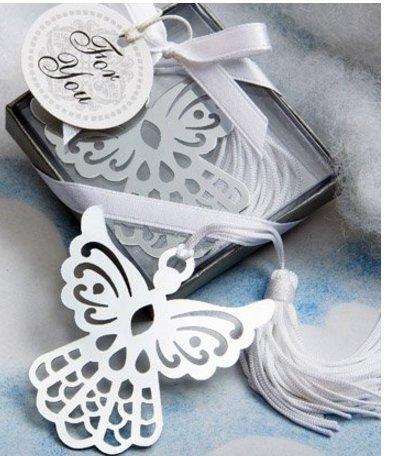 Ma-on Segnalibro in acciaio INOX a forma di angelo (confezione da 6)