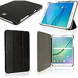 "igadgitz Negro PU Cuero Funda para Samsung Galaxy Tab S2 8"" SM-T710 con Soporte Multi-Angle + Auto Sleep/Wake + Protector Pantalla"