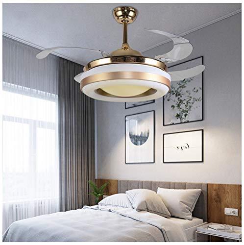 Lampadari lampade a sospensione e plafoniere lampadario stealth fan light telecomando ventilatore a soffitto luce soggiorno sala da pranzo camera da letto led moderno minimalista a tre stadi illuminaz