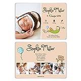 50 x Geburtskarten Babykarten Geburt Baby individuell Mädchen Junge - Teddybär