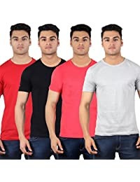 Diaz Soft Cotton Round Neck T Shirt For Men Pack Of 4