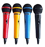 LTC AUDIO - Set de 4 micrófonos  en varios colores (rojo, azul, amarillo, negro)