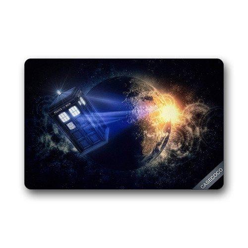 Vilico Custom Doctor Who Tardis Fußmatte Tür Willkommen Matte, Teppich Innen Bodenmatten, Rutschfest maschinenwaschbar Decor Badezimmer Matten
