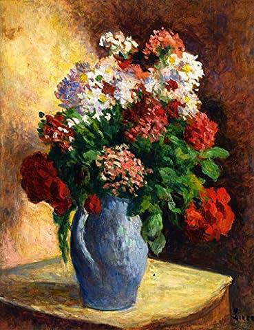 Vase Of Wallflowers - By Maximilien Luce - Canvas Prints 24