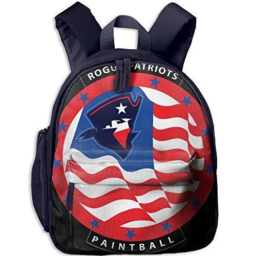 Cropped Rogue Patriots Logo Kid and Toddler Student Backpack School Bag Super Bookbag -