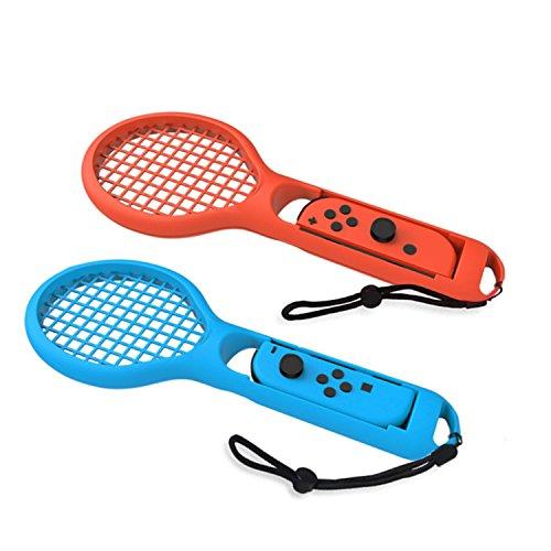 Raquetas de tenis Twin Pack rojo y azul para el juego Mario Aces de Nintendo Switch