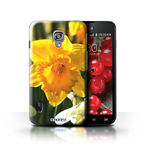 Kobalt® Imprimé Etui / Coque pour LG Optimus L7 II Dual / Champs de fleurs conception / Série floral Fleurs jonquille