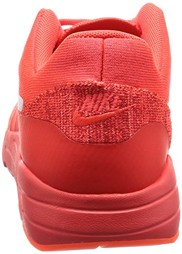 Nike Herren Air Max 1 Ultra Flyknit Laufschuhe, Orange, 45 EU Rot (Bright Crimson / Weiß-University Red)