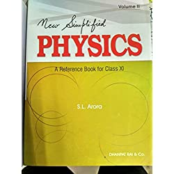 New Simplified Physics: A Reference Book for Class XI (Set of 2 Parts) with FREE CAR ANTI SLIP MAT